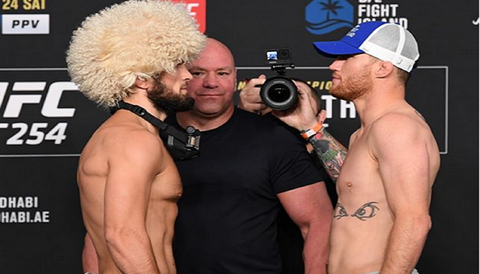 Live Streaming UFC 254, Khabib vs Gaethje